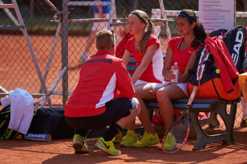 During a changeover in the deciding double