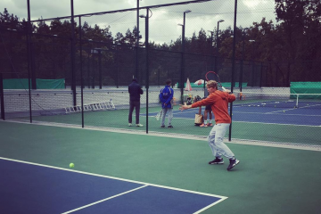 Soren at the practice court