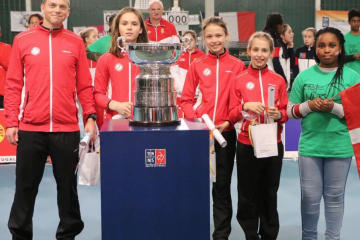 With the Fed Cup Trophy